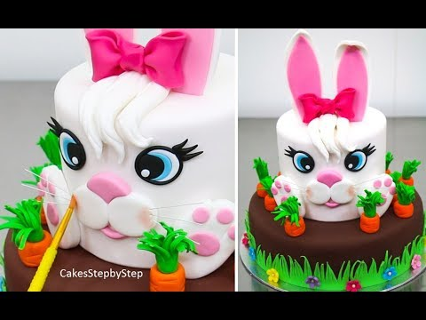 Easter Bunny Cake How To By Cakes Stepbystep Youtube