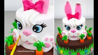 how to make a easter bunny cake