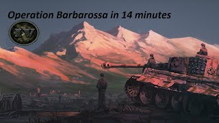 """Hearts Of Iron IV - How to win the """"Operation Barbarossa"""" in 14 min"""