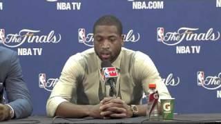 LeBron James & Dwyane Wade - Postgame Game 6 NBA Finals