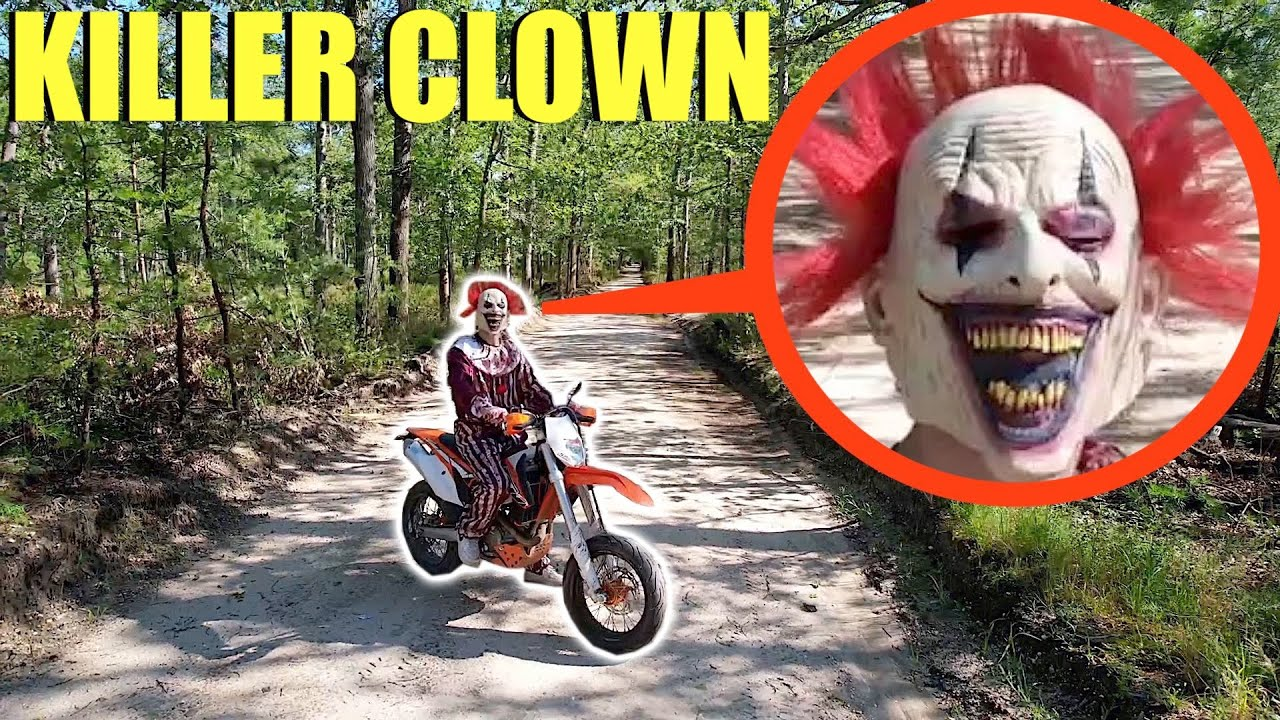 Download drone catches killer clown on a dirt bike (he tried to take our car)