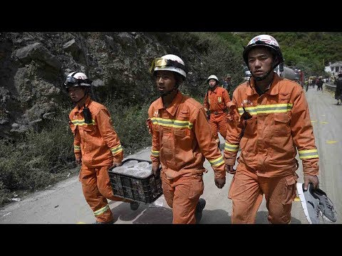 Police move to identify missing people after the Sichuan landslide