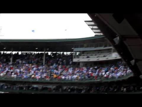 Chip Caray Sings Take Me Out to the Ball Game at Wrigley Field