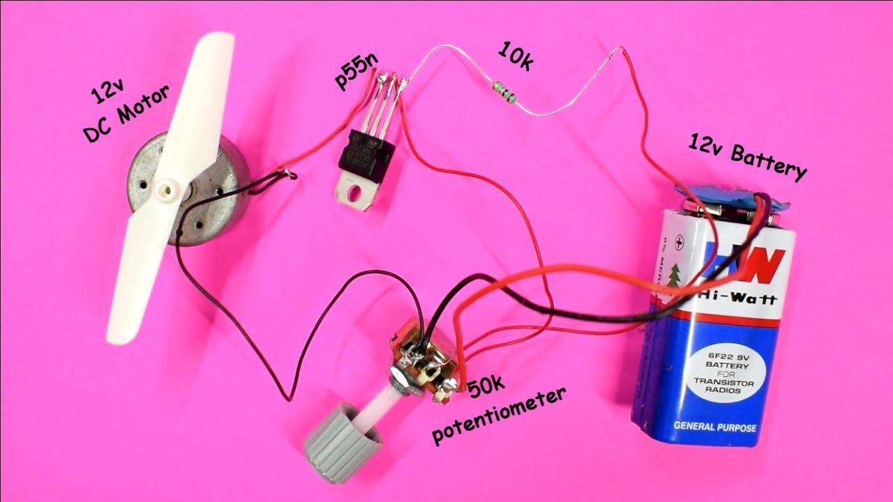 Dc Motor Speed Controller Using MOSFET | DIY Speed Control