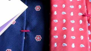 Riviera Napoli Ties: Top Quality Hand Made Italian Ties - Back Details