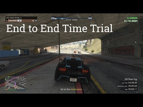 "GTA Online ""End to End"" Time Trial Completed (After Rocket Vehicle Patch)"