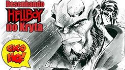 Desenhando Hellboy no Kryta