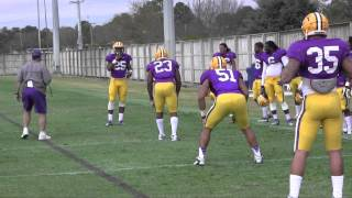 2013 LSU Spring Football Practice - Tiger Attack Drill