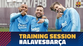 Recovery workout after the match against Real Sociedad