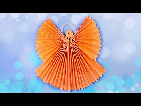Origami angel 3d paper craft tutorial diy. How to make angels for christmas& crafts ideas homemade