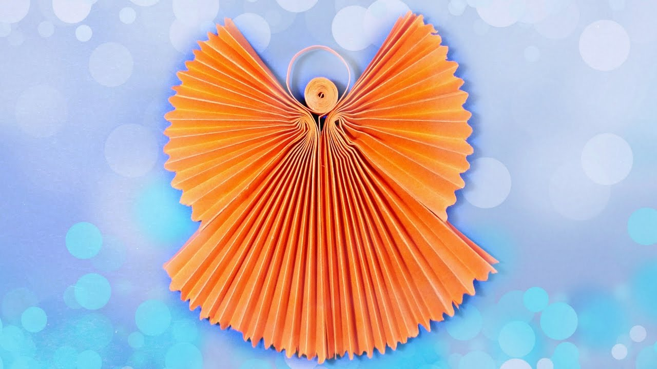 origami angel 3d paper craft tutorial diy how to make