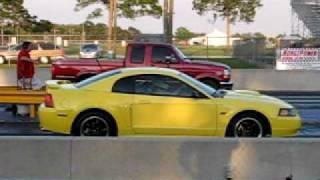 candi s zinc yellow 03 mustang gt vs f 150 dragging 99