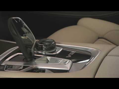 The new BMW M760Li V12 Excellence. Interior design.