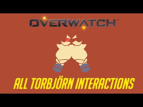 Overwatch - All Torbjörn Interactions + Unique Kill Quotes