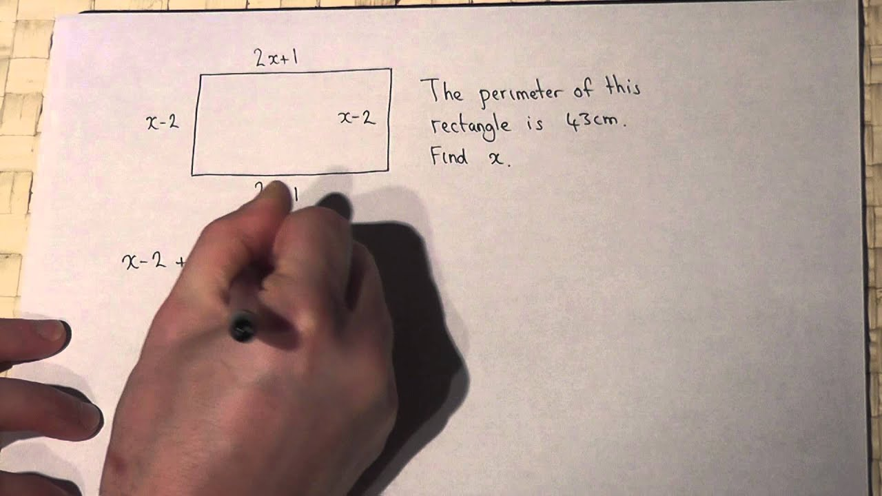 Algebra and perimeter equation solving youtube algebra and perimeter equation solving ccuart Image collections