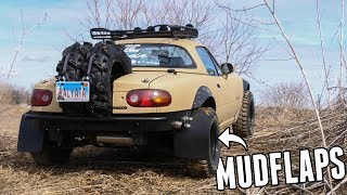 Lifted Miata Gets HUGE Mud Flaps & an OFFROAD BUMPER!