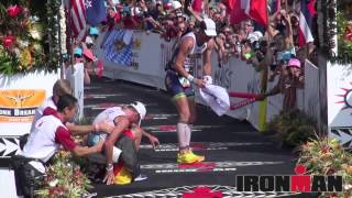 2012 IMKona Top 3 Pro Men & Women Finish Line