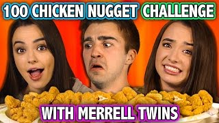 100 CHICKEN NUGGET CHALLENGE (ft. Merrell Twins) | Challenge Chalice