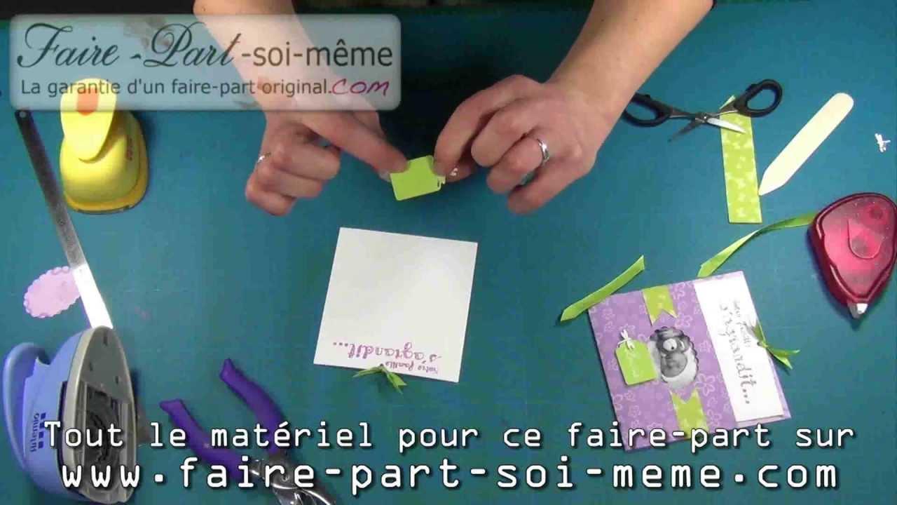 Faire-part de naissance Lucie libellule - YouTube