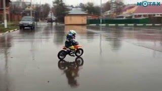 Детский мотокросс | Ребёнок 3 лет на кроссовом мотоцикле