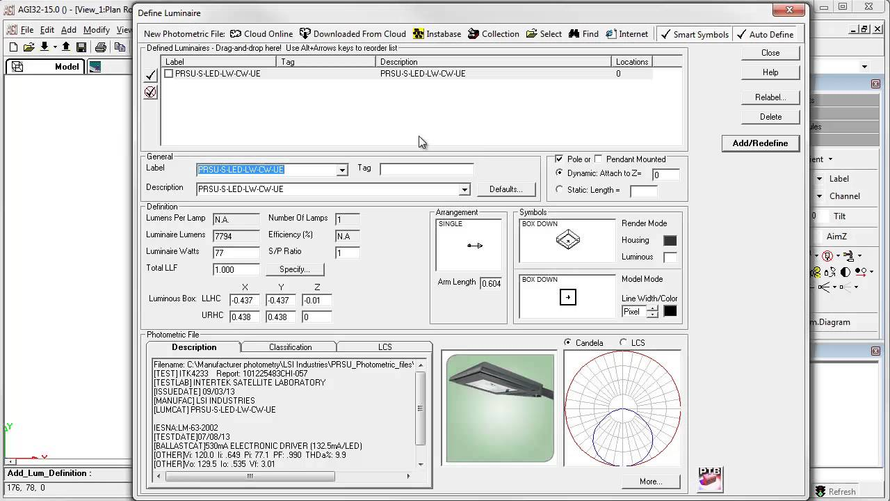 AGi32 Version 15 - Select Photometric File