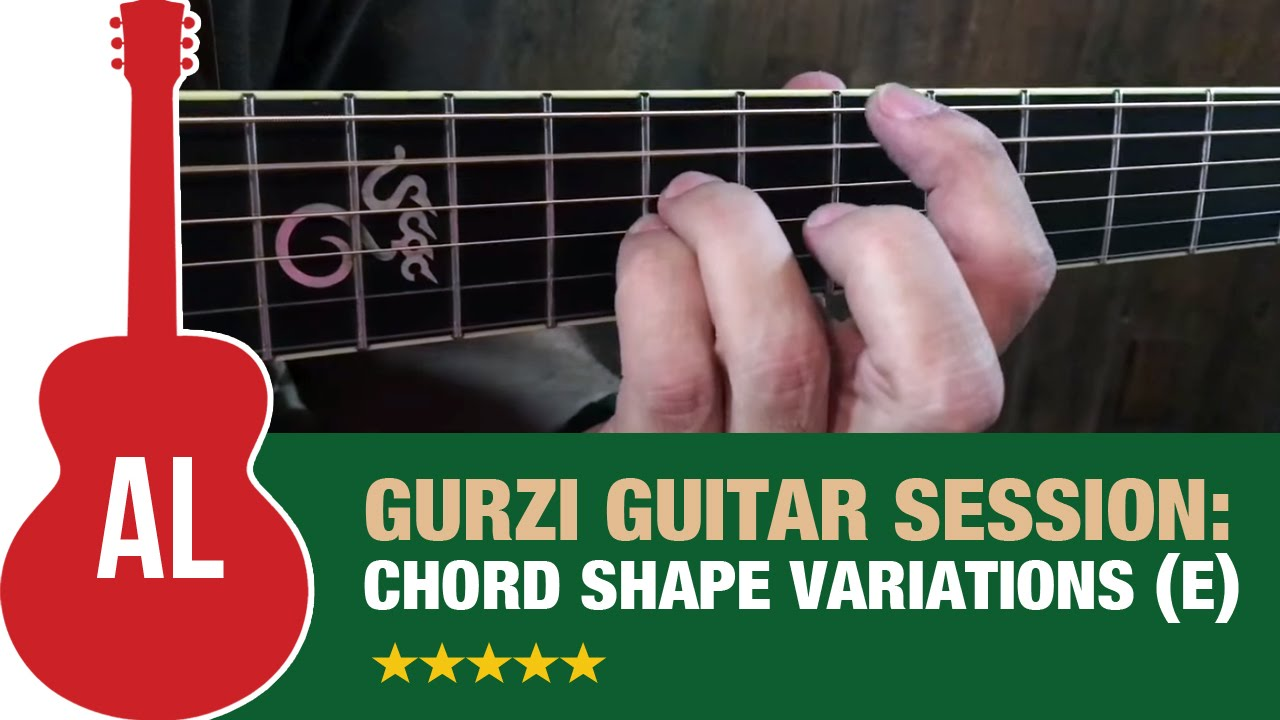 Chord Shape Variations Key Of E Youtube