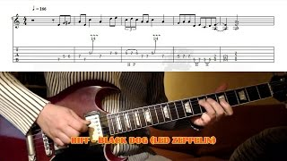Black Dog RIFF (Led Zeppelin) GUITAR LESSON with TAB