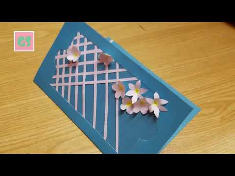 DIY Pop up Birthday card create with Paper:  Paper craft Tutorial,🌺🌺