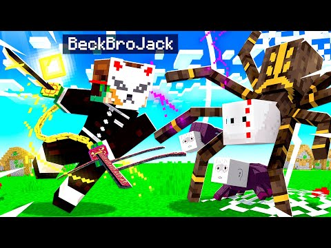 Becoming a MASTER DEMON SLAYER in Minecraft!