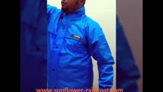 Trial Test jas hujan sunflower