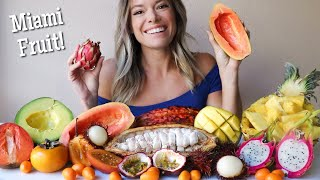 Exotic Fruits MUKBANG wİth Miami Fruit! Cacao, Mamey, Dragon Fruit, Kumquats and More!