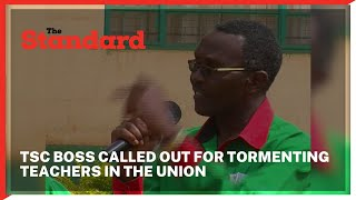 Angry KNUT official Clement Githau calls out TSC boss for tormenting teachers in the union