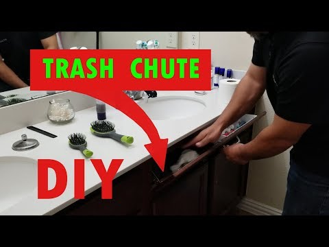 Smart Bathroom Hack | Ingenious Trash Chute Using a previous tip-out tray installation