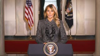 Melania Trump releases farewell message: 'Violence is never the answer'