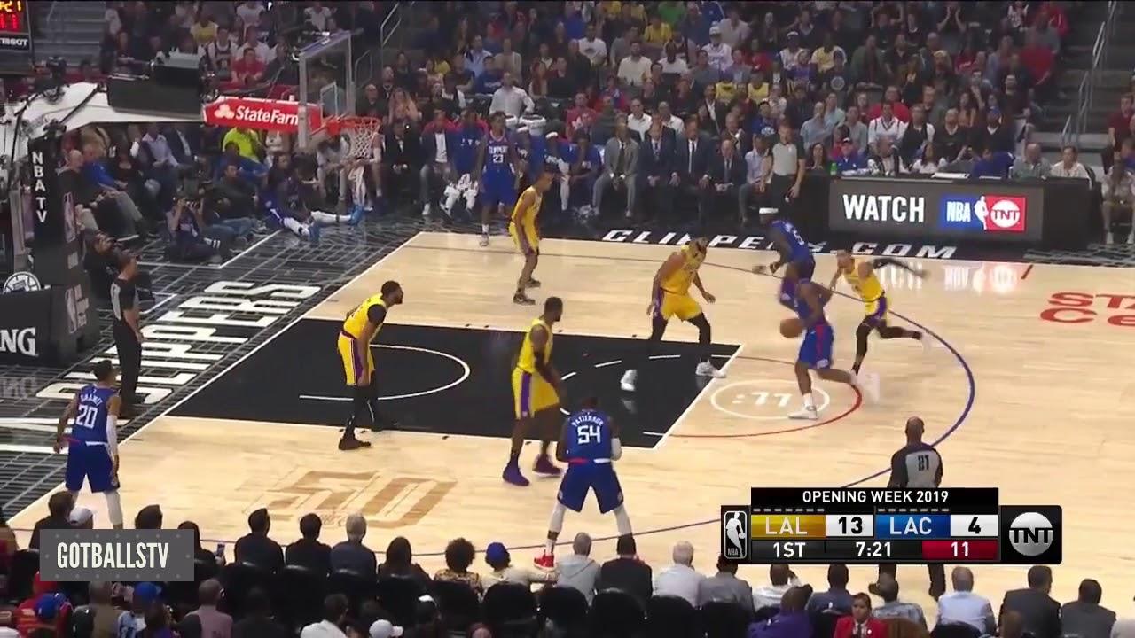 Clippers vs Lakers Opening night NBA 2019-2020 Kawhi ...