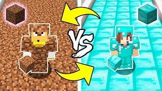 Minecraft - TIERRA vs DIAMANTE | Que ARMADURA GANA!?
