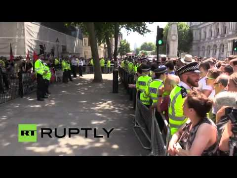 LIVE: White supremacists take to Downing Street to protest t