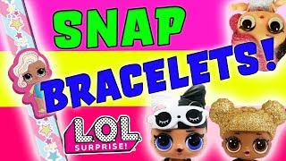 New Slap Bracelet from the LOL Surprise Dolls! Play with 30 Dolls and their Necklaces and Toys!