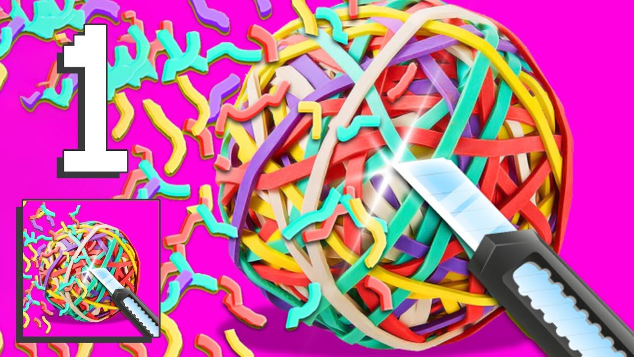 RubberBand Cutting - ASMR - Gameplay Walkthrough [Android, iOS Game]