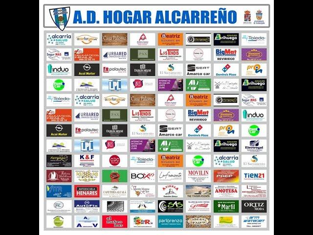 PATROCINADORES A.D.HOGAR ALCARREÑO S.A.D  TEMPORADA 2019-2020 GUADALAJARA , ESPAÑA