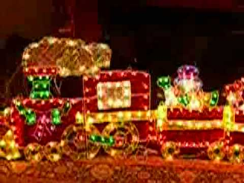 holographic train - Hologram Outdoor Christmas Decorations