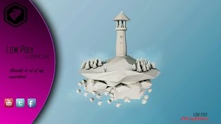 Low poly Lighthouse / Speed art #9 / Cinema 4D