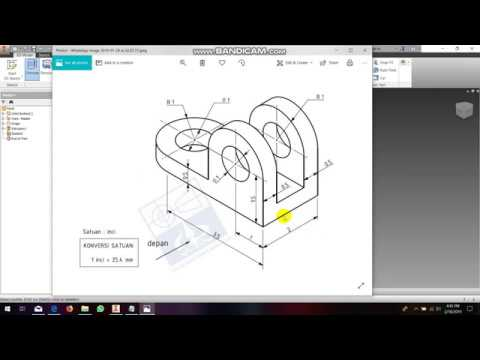 tutorial how to design by autodesk inventor / cara design dengan software inventor #2 thumbnail