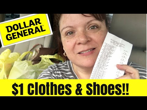 Dollar General Haul $1 Clothes & Shoes!
