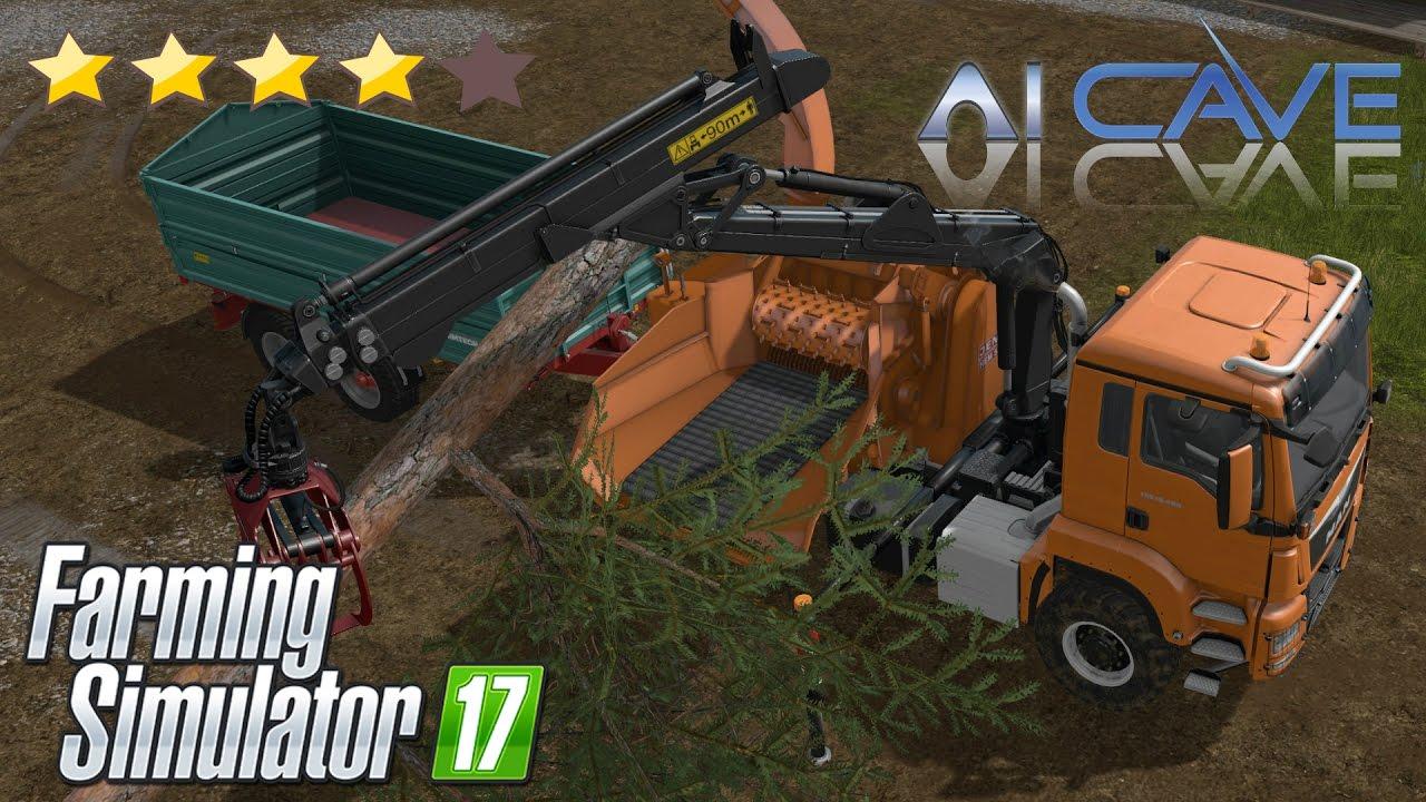 Farming Simulator 17 Mods: MAN TGS Truck WITH JENZ HEM WOODCRUSHER Review