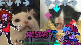 Thurston Waffles vs Cat that goes aaa (GAMEOVER) (Friday Night Funkin - M.I.L.F)
