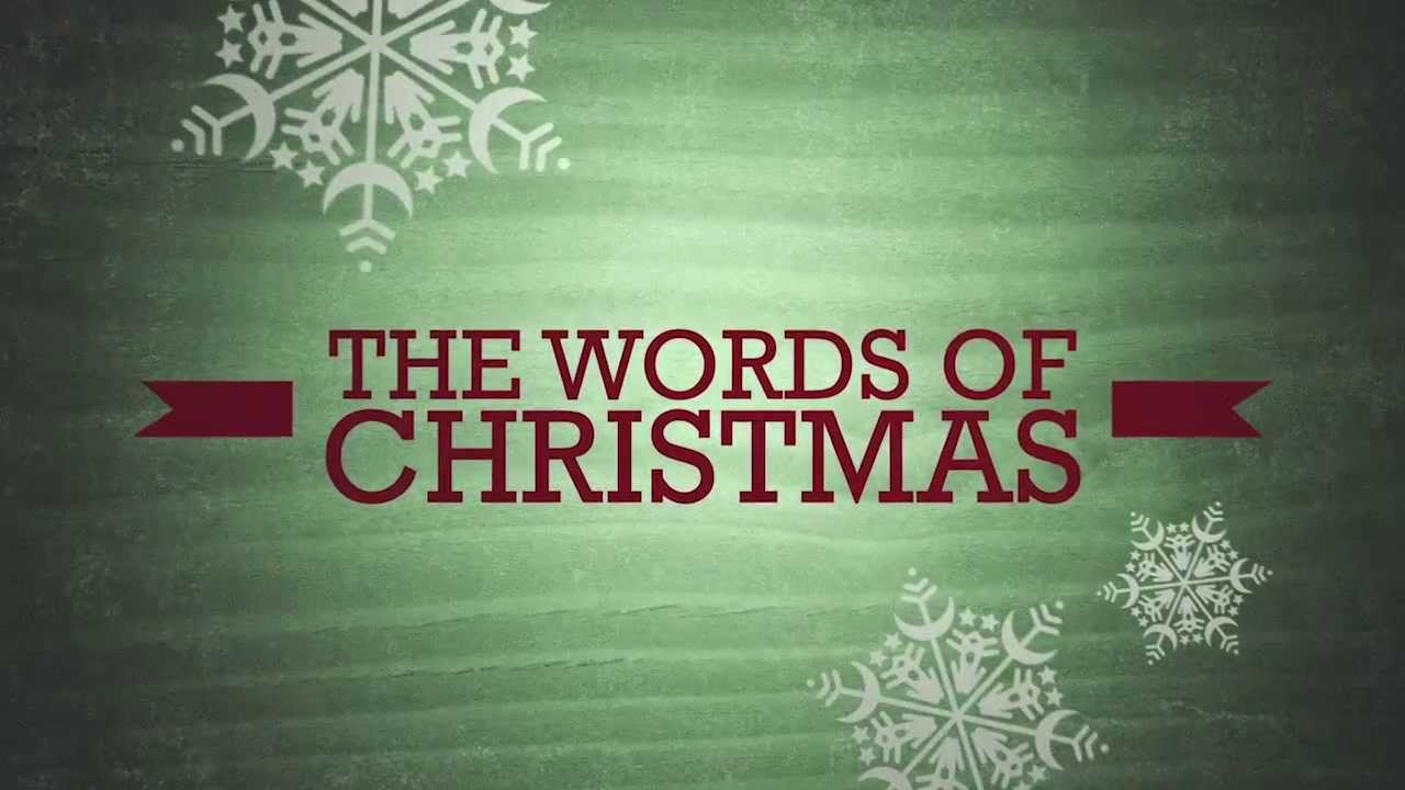 The Words of Christmas Sermon Series Bumper Video - YouTube