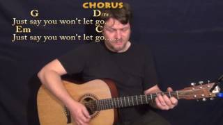 Say You Won't Let Go (James Arthur) Strum Guitar Cover Lesson in G with Chords/Lyrics