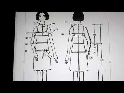 Mengukur Badan untuk membuat Pola Dasar Pakaian wanita