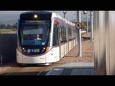 Edinburgh Tram from York Place to  Edinburgh Airport 2015